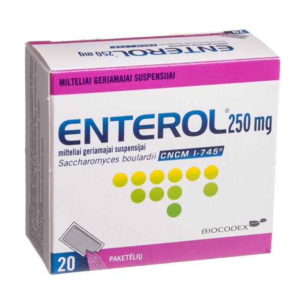 ENTEROL, 250 mg, milteliai geriamajai suspensijai, N20 paveikslėlis