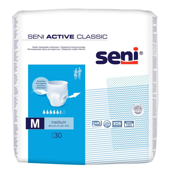 SENI ACTIVE CLASSIC M, sauskelnės-kelnaitės, 30 vnt. paveikslėlis