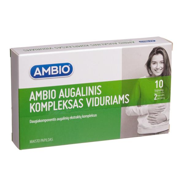 AMBIO AUGALINIS KOMPLEKSAS VIDURIAMS, 10 kapsulių paveikslėlis