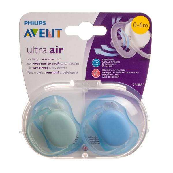 """PHILIPS AVENT, silikoninis čiulptukas """"Ultra Air B"""", nuo 0-6 mėn., SCF244/20, 2 vnt. paveikslėlis"""