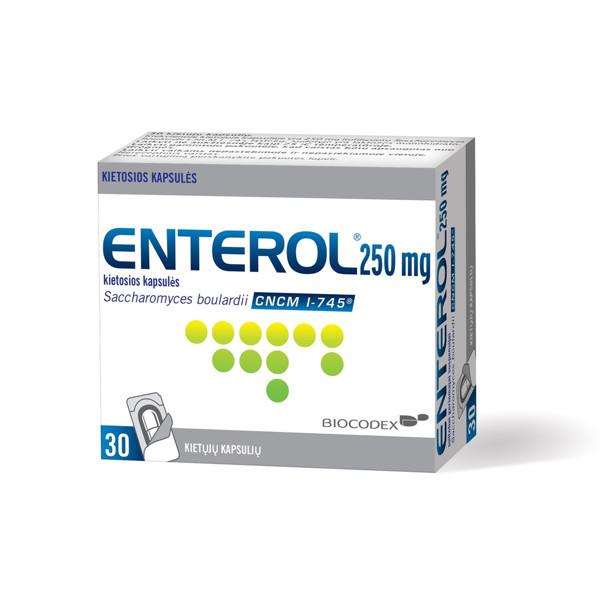 ENTEROL, 250 mg, kietosios kapsulės, N30 paveikslėlis