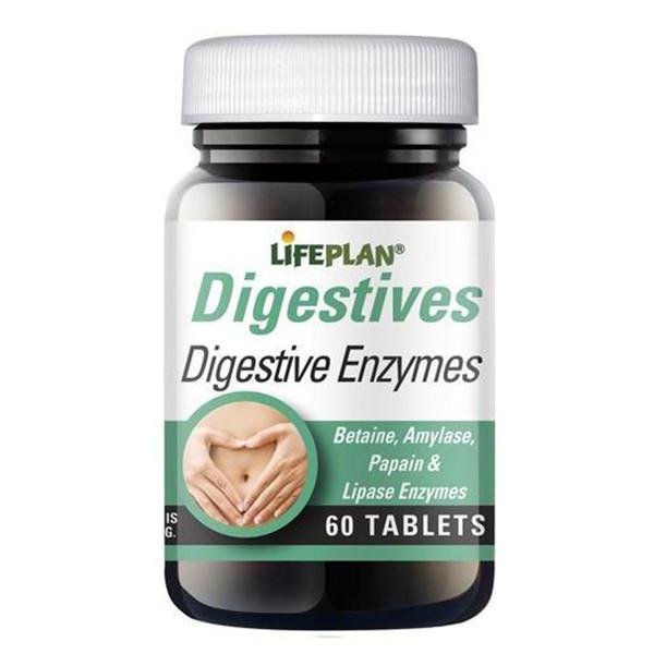 LIFEPLAN DIGESTIVE ENZYMES, augaliniai fermentai, tabletės N60 paveikslėlis