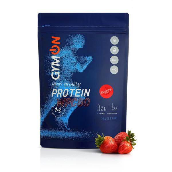 GYMON, braškių skonio baltymų kokteilis, 1 kg paveikslėlis