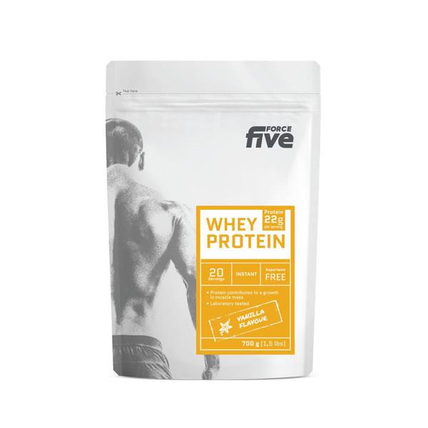 FORCEFIVE, vanilės skonio išrūgų baltymų gėrimo milteliai, 700 g paveikslėlis