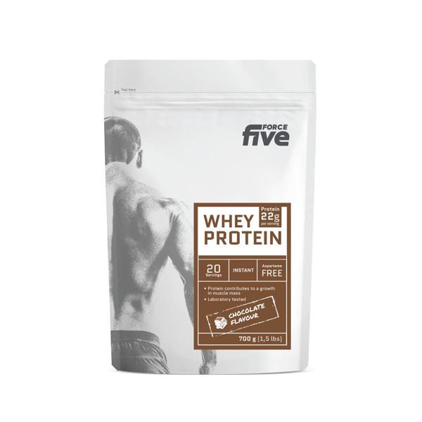FORCEFIVE, šokolado skonio išrūgų baltymų gėrimo milteliai, 700 g paveikslėlis