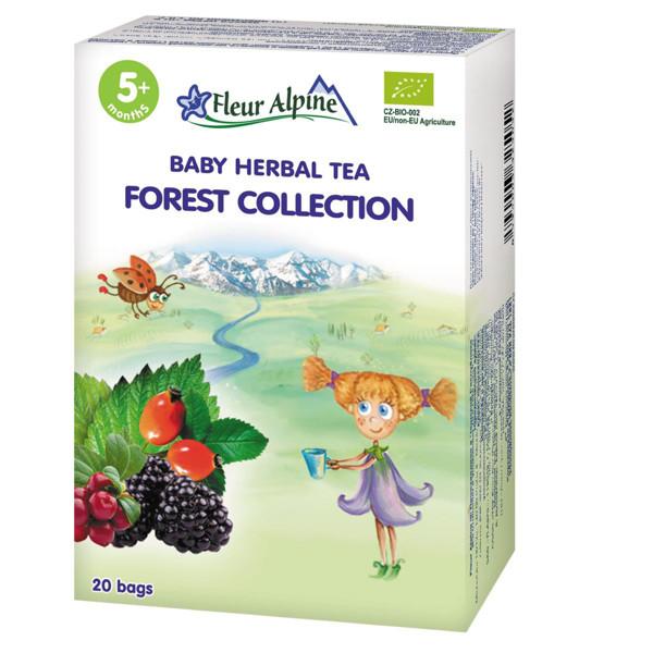 """FLEUR ALPINE, ekologiška žolelių arbata, """"Miško kolekcija su prebiotikais"""" , tinka vaikams nuo 5 mėnesių, 30 g paveikslėlis"""