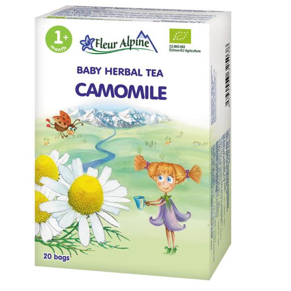 """FLEUR ALPINE, ekologiška žolelių arbata, """"Ramunėlių"""" , tinka vaikams nuo 1 mėnesio, 20 g paveikslėlis"""