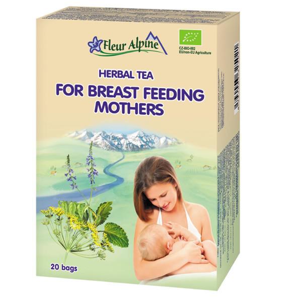 """FLEUR ALPINE, ekologiška žolelių arbata, """"Maitinančioms mamoms"""", 30 g paveikslėlis"""