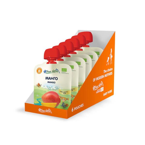 """""""Mango"""" ekologiška tyrelė FLEUR ALPINE, nuo 6 mėnesių, 90 g x 6 paveikslėlis"""