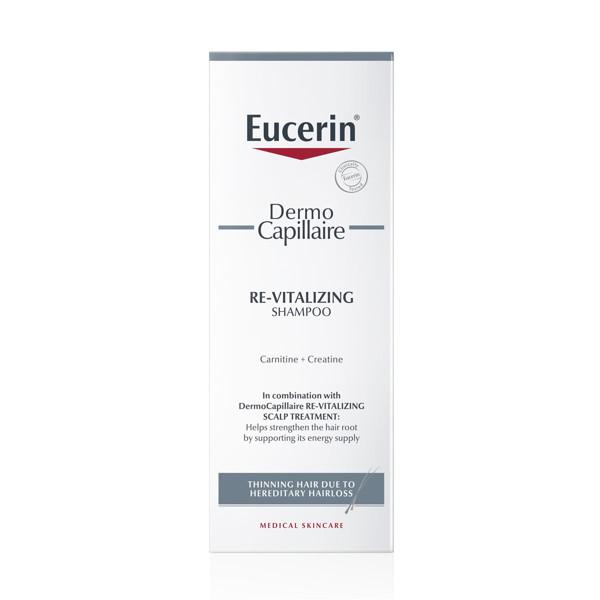 EUCERIN DERMOCAPILLAIRE, gaivinamasis šampūnas dėl paveldimo plaukų slinkimo plonėjantiems plaukams, 250 ml paveikslėlis