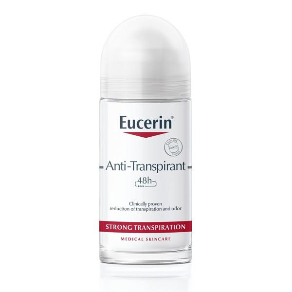 EUCERIN, rutulinis antiperspirantas jautriai odai, 48 h, 50 ml paveikslėlis