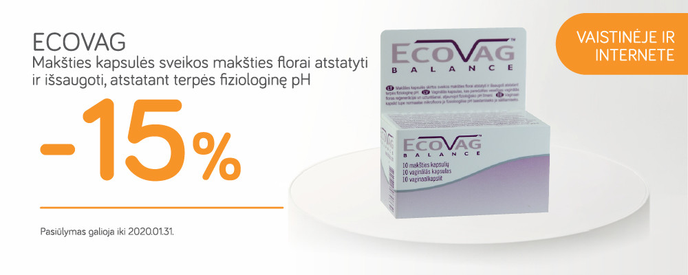 ECOVAG -15% nuolaida