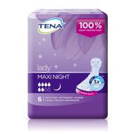TENA LADY MAXI NIGHT, nakčiai skirti paketai moterims, 6 vnt. paveikslėlis