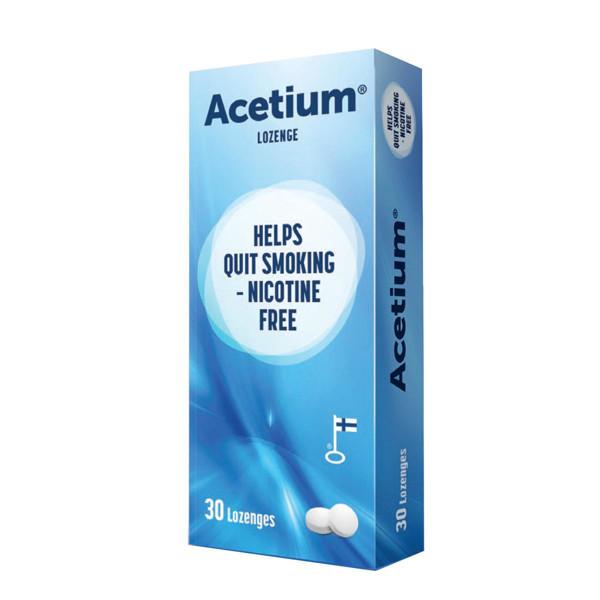 ACETIUM® LOZENGE nuo rūkymo, 30 pastilių paveikslėlis