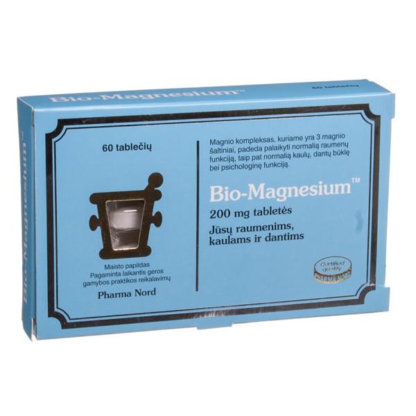 PHARMA NORD BIO-MAGNESIUM, 200 mg, 60 tablečių paveikslėlis