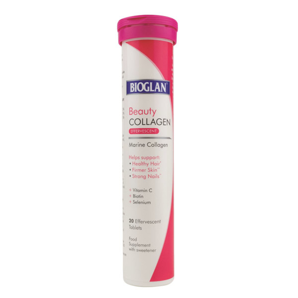 BIOGLAN BEAUTY COLLAGEN, kolagenas, 1000 mg, 20 šnypščiųjų tablečių paveikslėlis