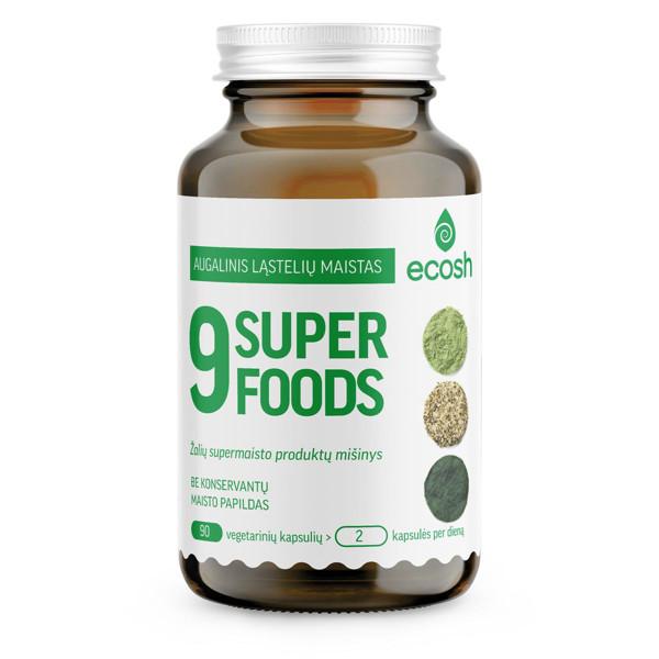 ECOSH 9 SUPERFOODS, 500 mg, 90 kapsulių paveikslėlis