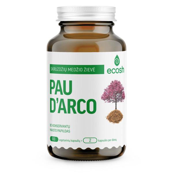 ECOSH PAU D'ARCO, 500 mg, 100 kapsulių paveikslėlis