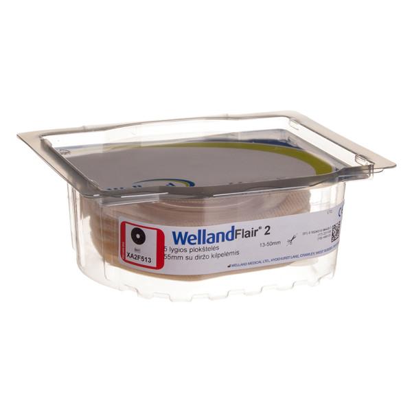 WELLAND FLAIR, išmatų rinktuvų plokštelė, 55 mm, lygi, dviejų dalių rinktuvui, iškirpta anga, 13 mm, žiedas, 5 vnt. paveikslėlis
