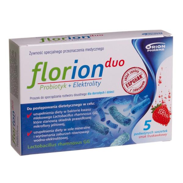 FLORION DUO, milteliai geriamajam tirpalui, 10 paketėlių (5 dozės) paveikslėlis
