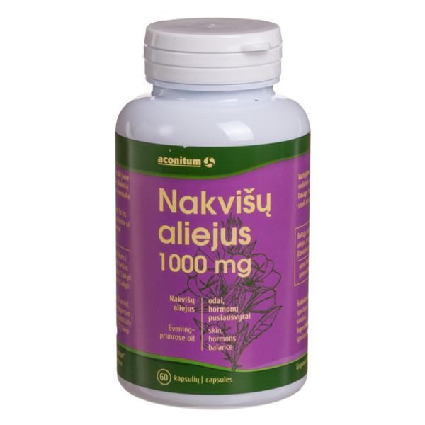ACONITUM, nakvišų aliejus, 1000 mg, 60 kapsulių paveikslėlis