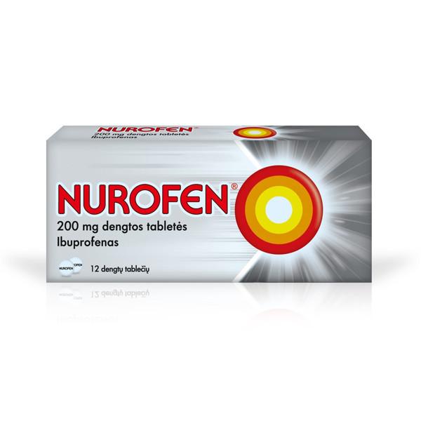 NUROFEN, 200 mg, dengtos tabletės, N12  paveikslėlis