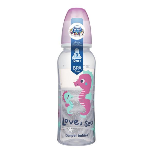CANPOL BABIES PP LOVE&SEA, siauro kaklelio buteliukas, 250 ml, 59/400 paveikslėlis