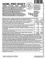 NOBL NUTRITION PRO WHEY pieno išrūgų baltymai, sausainių skonio, be laktozės, 1000 G paveikslėlis