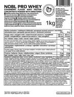 NOBL NUTRITION PRO WHEY pieno išrūgų baltymai, braškių skonio, be laktozės, 1000G paveikslėlis