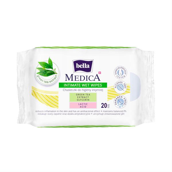BELLA MEDICA, drėgnos servetėlės intymiai higienai, 20 vnt. paveikslėlis