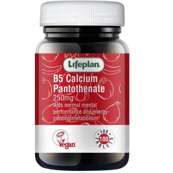 LIFEPLAN VITAMINAS B5 250 mg, kalcio pantotenatas, tabletės N100 paveikslėlis