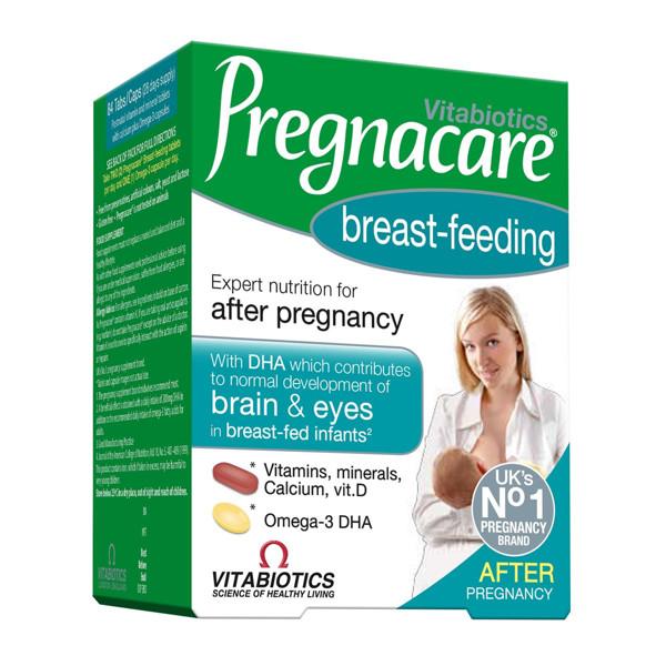 PREGNACARE BREAST FEEDING, 56 tabletės, 28 kapsulės paveikslėlis