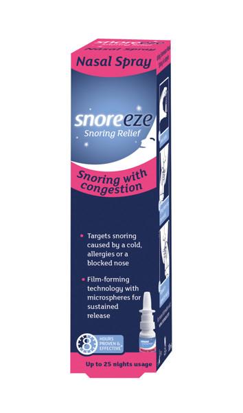 SNOREEZE, purškalas nuo knarkimo į nosį (apsaugo nuo knarkimo iki 8 val.), 10 ml paveikslėlis