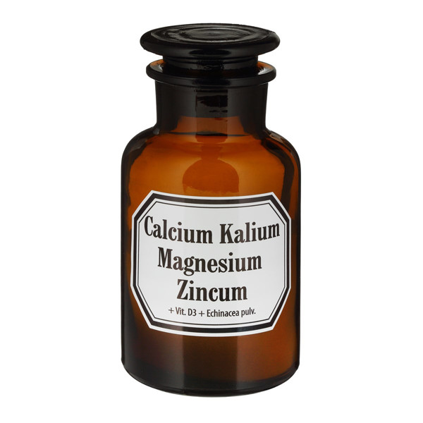 OLD PHARM CALCIUM, KALIUM, MAGNESIUM, ZINCUM + VIT. D3 + ECHINACEA, milteliai, 90 g paveikslėlis