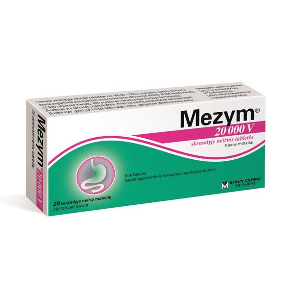 MEZYM, 20000 V, skrandyje neirios tabletės, N20 paveikslėlis