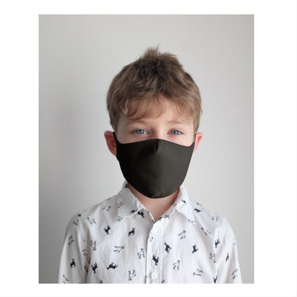 Apsauginė vaikiška kaukė (tamsi), daugkartinio naudojimo, 2-10 metų vaikams paveikslėlis