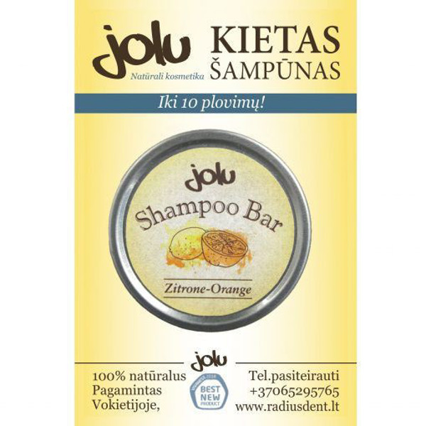 JOLU kietas šampūnas normaliems plaukams ZITRONE-ORANGE, 10 g paveikslėlis