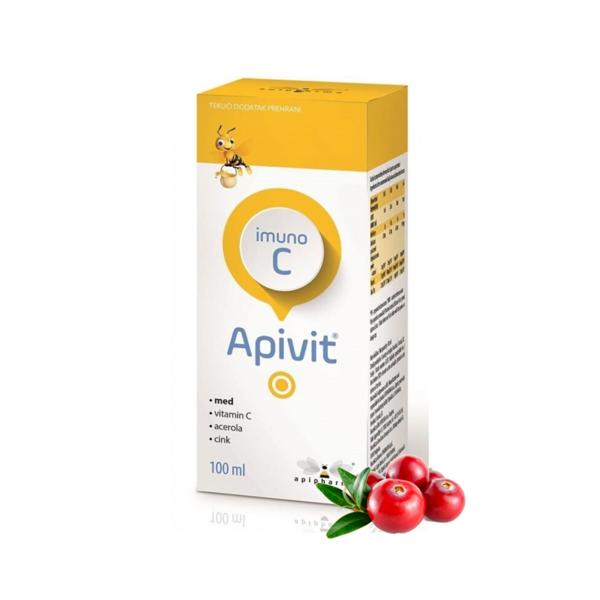 APIVIT IMUNO C  sirupas su medumi ir vitaminu C, 100ml paveikslėlis