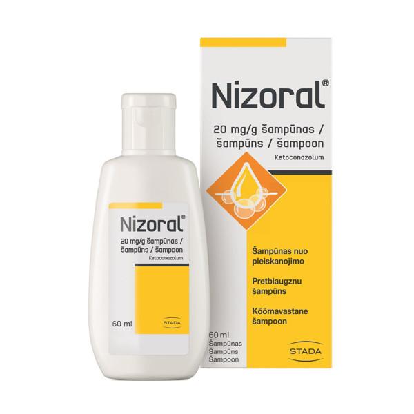 NIZORAL, 20 mg/g, šampūnas, 60 ml paveikslėlis