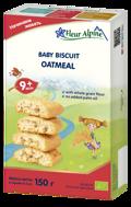 """""""Avižiniai pilno grūdo"""" ekologiški sausainiai FLEUR ALPINE, nuo 9 mėnesių, 150 g paveikslėlis"""