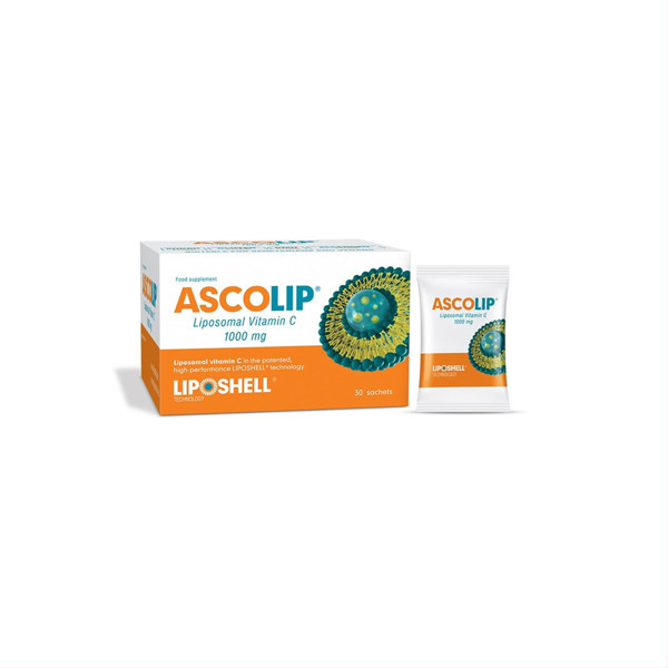 ASCOLIP, liposominis vitaminas C, skystas gelis, 5 ml x 30 vnt. paveikslėlis