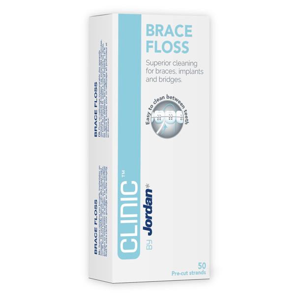 JORDAN CLINIC BRACE FLOSS, dantų siūlas, ortodontinis, 50 vnt. paveikslėlis