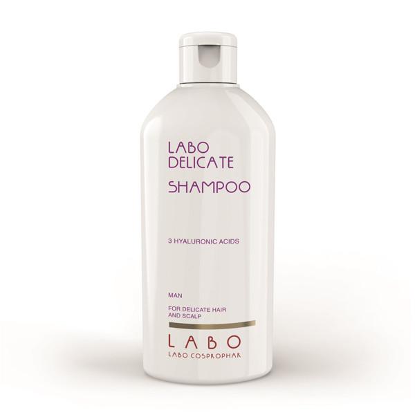 LABO DELICATE, šampūnas jautriai galvos odai su 3 hialurono rūgštimis, vyrams, 200 ml paveikslėlis