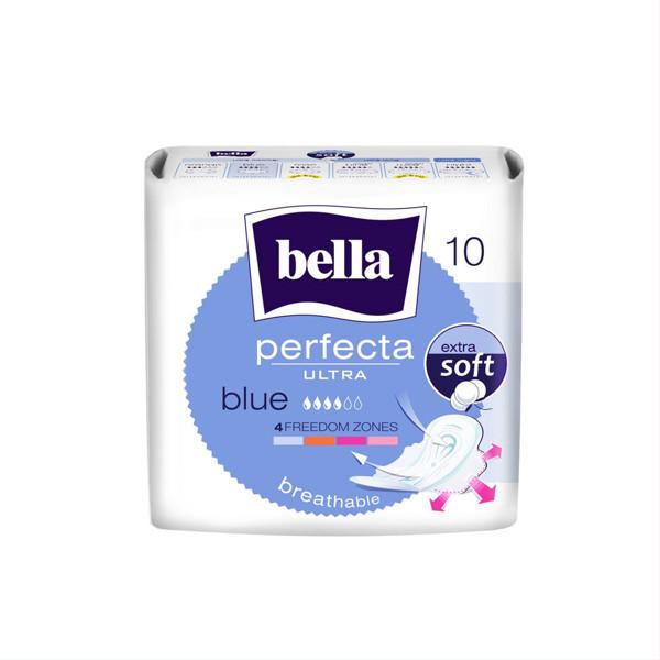 BELLA PERFECTA BLUE, higieniniai paketai, 10 vnt. paveikslėlis