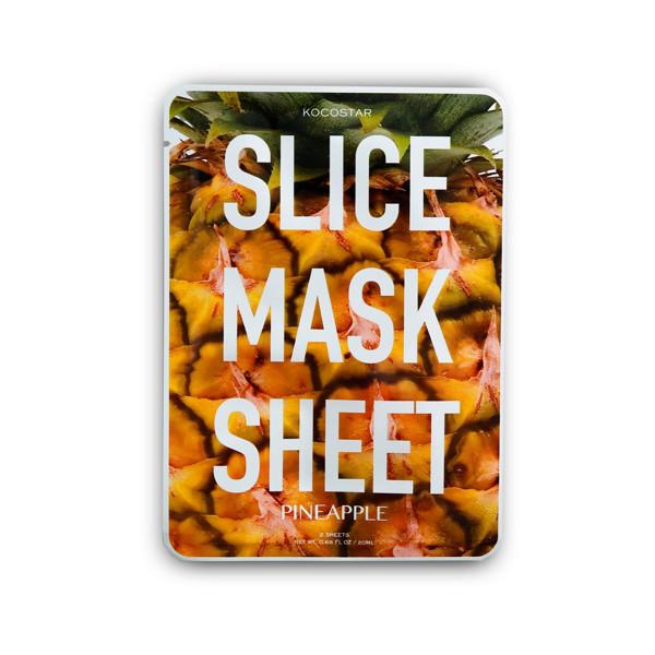 KOCOSTAR elastingumo suteikianti veido kaukė su ananasais rutuliukais Slice Mask,  1 vnt
