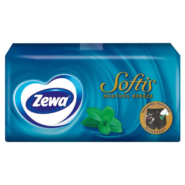 ZEWA SOFTIS MENTHOL, vienkartinės nosinės, 9 vnt. paveikslėlis