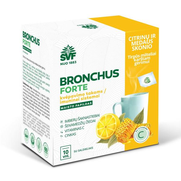 ACORUS BRONCHOS FORTE, citrinų-medaus skonio milteliai geriamajam tirpalui, 5 g, 10 vnt. paveikslėlis