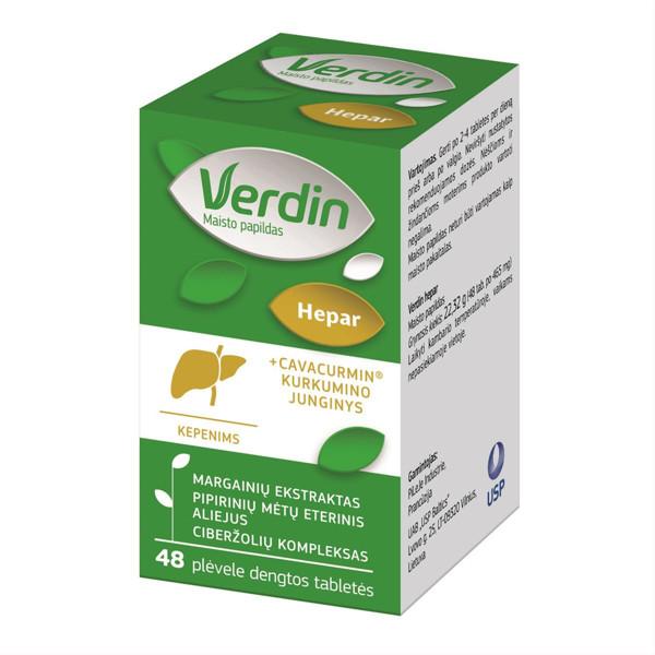 VERDIN HEPAR, 48 plėvele dengtos tabletės paveikslėlis