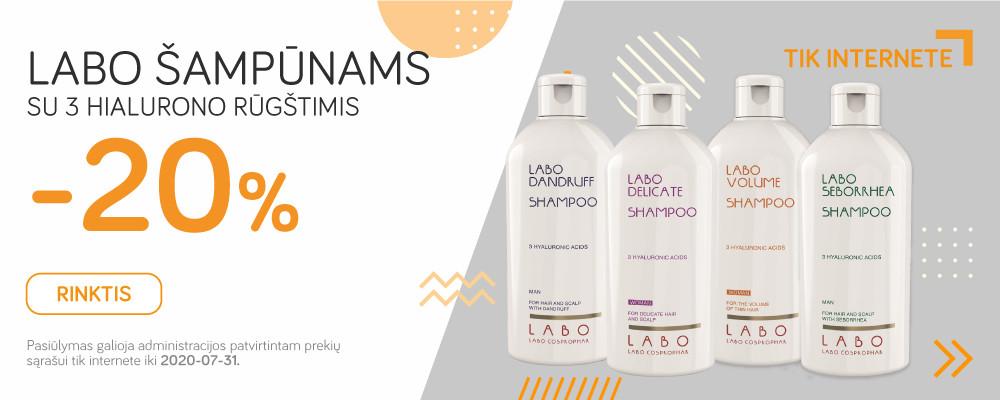 LABO šampūnams -20%