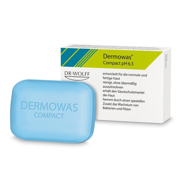 DERMOWAS COMPACT, pH 6,5, kietasis muilas, 100 g paveikslėlis